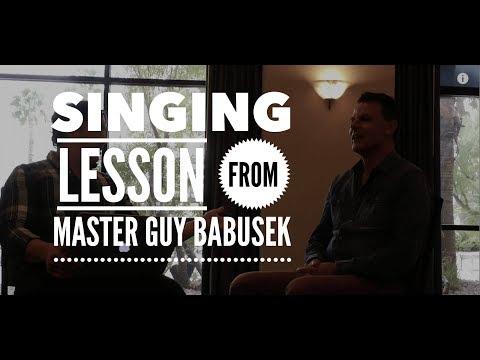 Singing Lesson from Master Guy Babusek