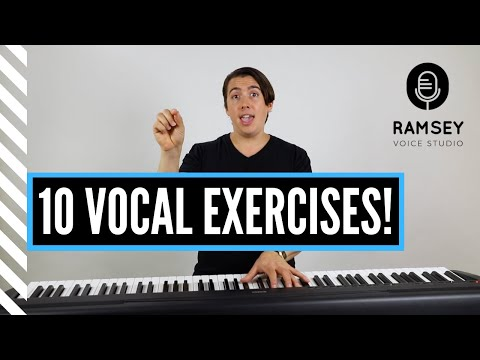 The 10 Best Vocal Exercises for Singers--All Male and Female Keys