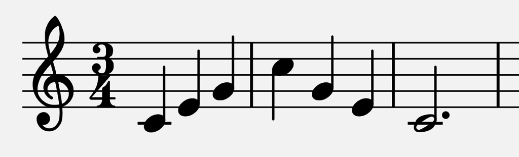 Major scale arpeggio in 3/4 time