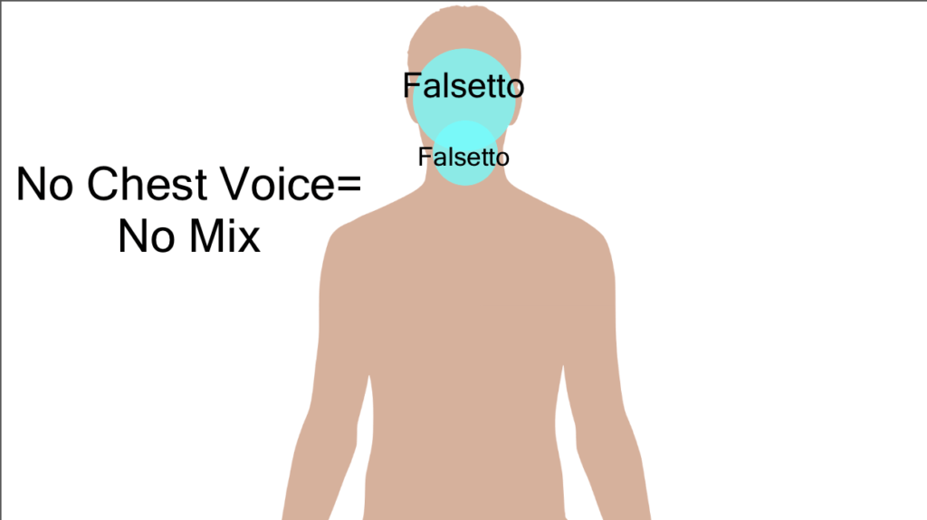 a diagram showing where head  singing voice comes from