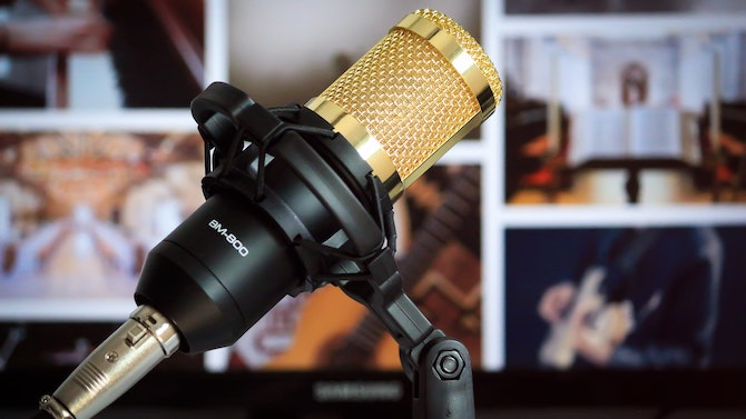 Gold BM-800 Microphone